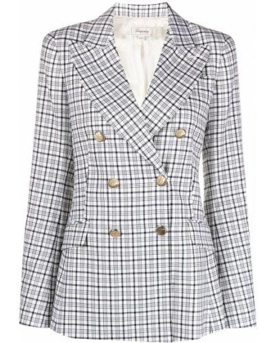 Удлиненный пиджак с подкладкой на пуговицах из вискозы с лацканами Temperley London