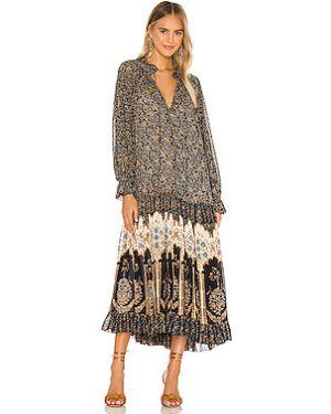 Платье миди шифоновое из вискозы Free People