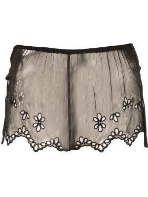 Черные шорты прозрачные Kiki De Montparnasse