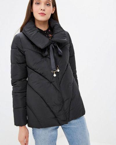 Утепленная куртка демисезонная черная Allegri