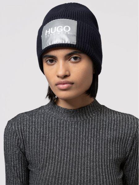 Czarna czapka Hugo