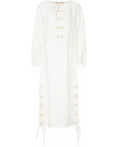 Платье льняное на шнуровке Flow The Label