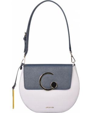 Синяя кожаная сумка Cromia