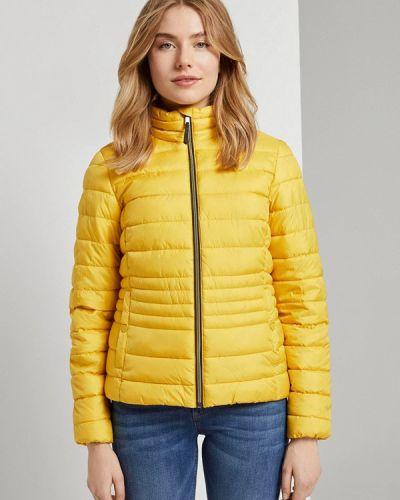 Теплая желтая утепленная куртка Tom Tailor