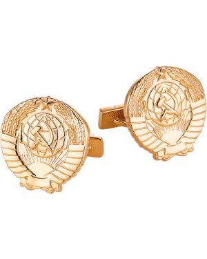 Запонки из серебра из золота Ku&ku