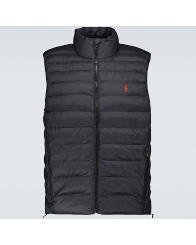 Нейлоновая стеганая черная жилетка Polo Ralph Lauren