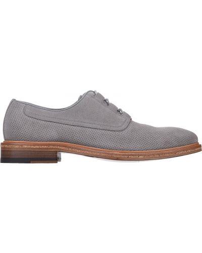 Кожаные туфли - серые A.testoni