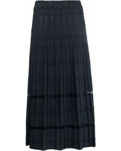 Шерстяная юбка миди - зеленая Antonino Valenti