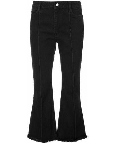 Укороченные джинсы свободные расклешенные Sandy Liang