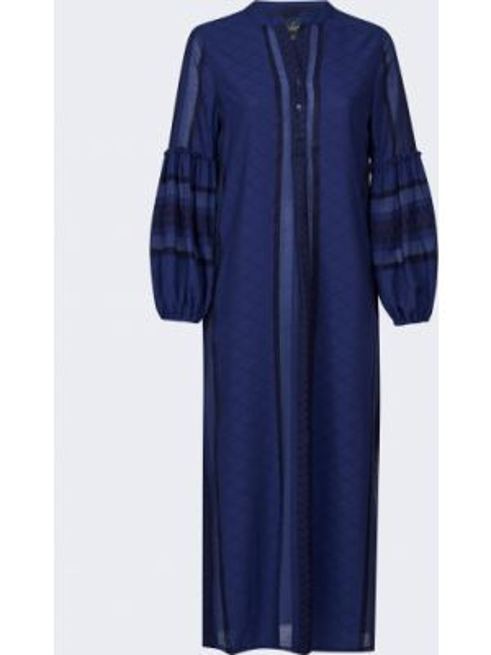 Хлопковое синее платье на пуговицах Luisa Spagnoli