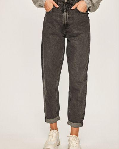 Черные джинсы бойфренды на пуговицах с поясом с открытой спиной Pepe Jeans
