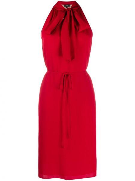 Платье с поясом в рубчик шелковое Theory