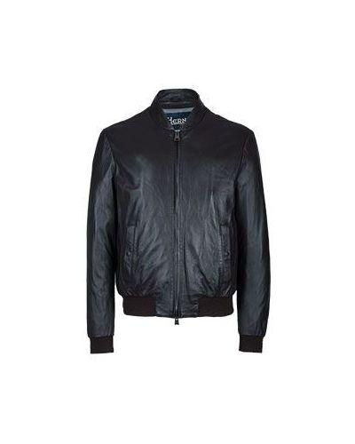 Коричневая кожаная куртка Herno