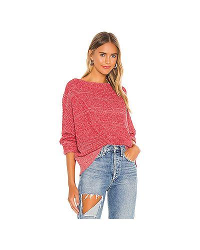 Красный вязаный свитер с воротником Minkpink