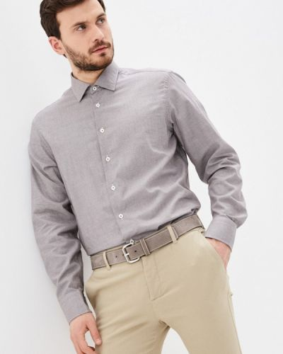 Коричневая рубашка с длинными рукавами Van Laack
