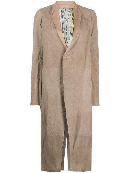 Płaszcz z wiskozy z klapami Rick Owens