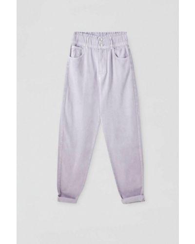 Повседневные фиолетовые брюки Pull&bear