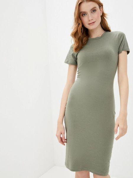 Платье футболка зеленый Befree