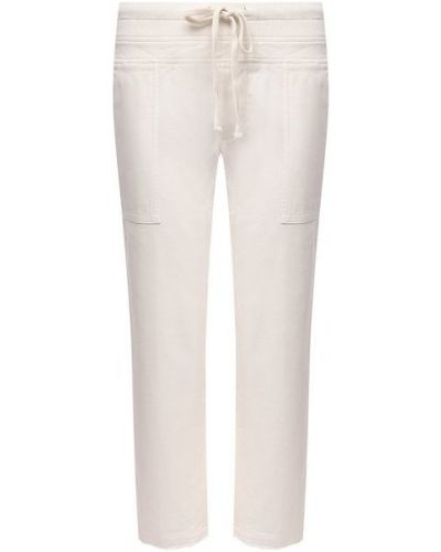 Хлопковые белые брюки James Perse