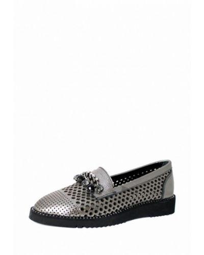 Кожаные туфли серебряный Blizzarini