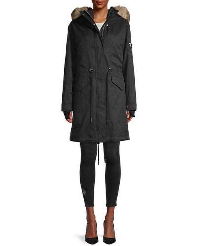 Длинная куртка с капюшоном из искусственного меха на молнии Soia & Kyo