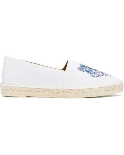 Белые эспадрильи с вышивкой Kenzo