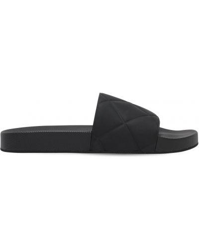 Czarny sandały matowy Bottega Veneta