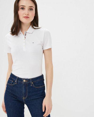 Белое поло Tommy Jeans
