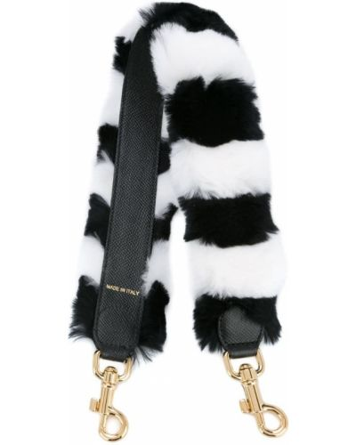 Меховой ремень в полоску Dolce & Gabbana