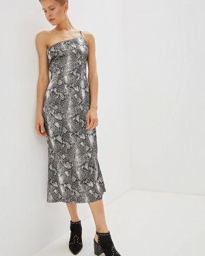 Вечернее платье серое весеннее Gepur
