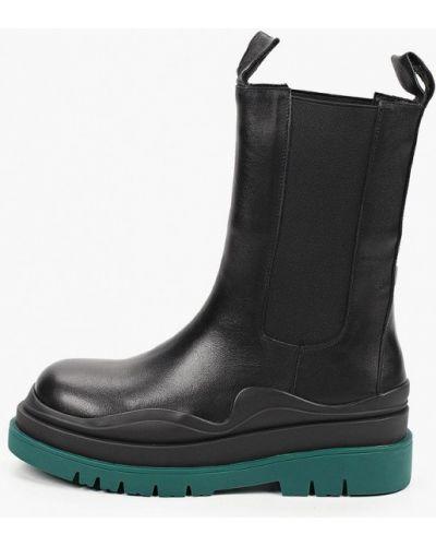 Кожаные ботинки челси - черные Just Couture