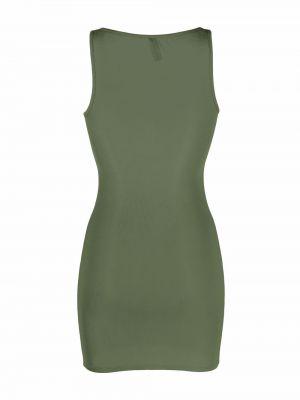 Prążkowana zielona sukienka bez rękawów Maison Close