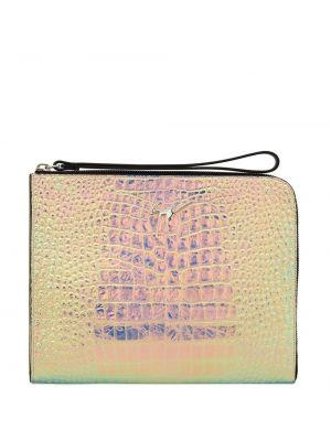 Skórzana torba pod ręką od krokodyla Giuseppe Zanotti