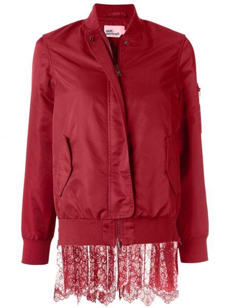 Красная длинная куртка Self-portrait