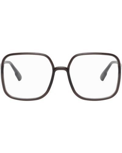 Кожаные очки для зрения квадратные золотые Dior