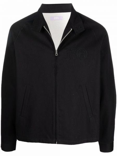 Czarna kurtka bawełniana Erl