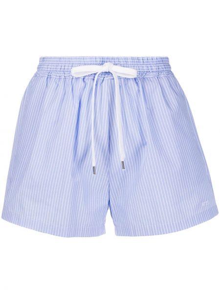 Короткие шорты с завышенной талией пляжные N21