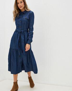 Джинсовое платье осеннее синее Warehouse