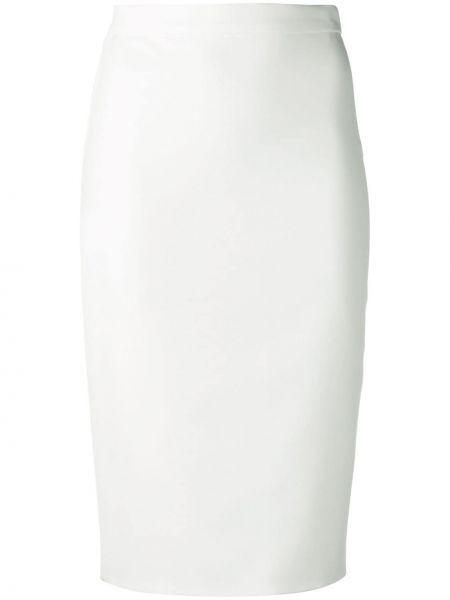 Прямая с завышенной талией юбка миди на молнии с разрезом Loulou