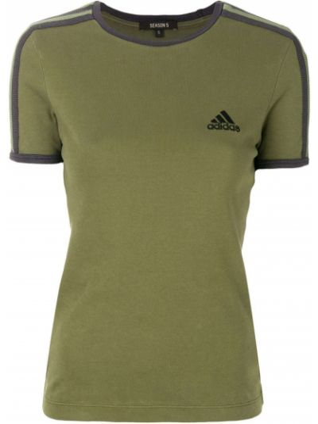 Хлопковая футболка - зеленая Yeezy