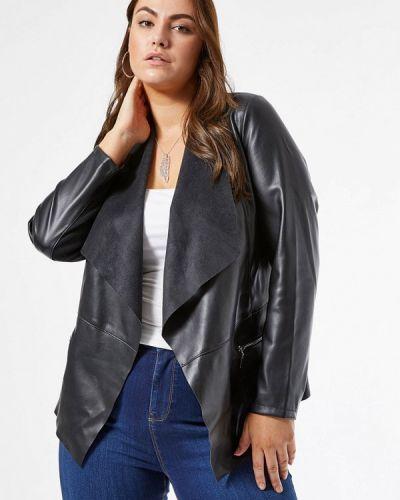 Кожаная черная кожаная куртка Dorothy Perkins Curve