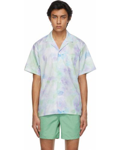 Fioletowa koszula bawełniana krótki rękaw Bather