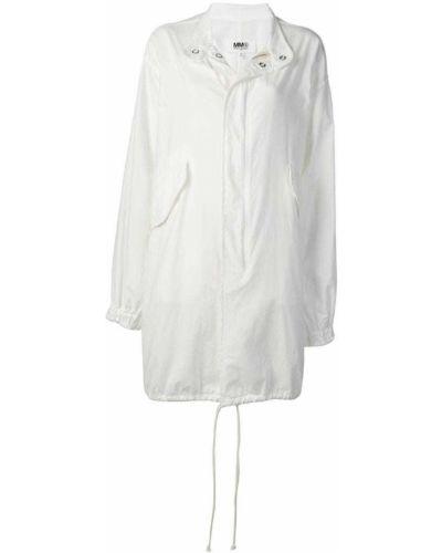 Белый тренчкот с капюшоном Mm6 Maison Margiela