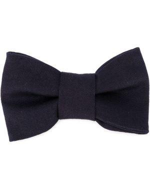 Синий хлопковый галстук с бабочкой Il Gufo