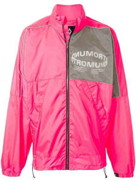 Różowa długa kurtka z długimi rękawami z siateczką Marcelo Burlon County Of Milan