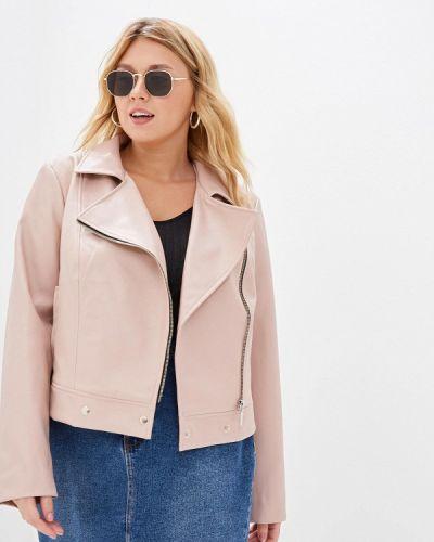 Кожаная куртка осенняя розовая авантюра Plus Size Fashion