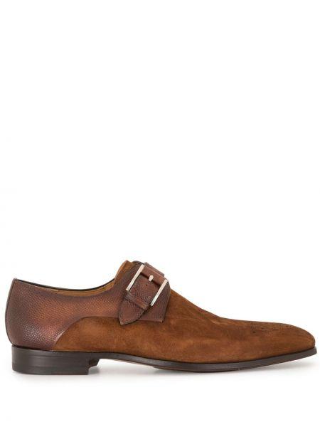 Кожаные коричневые кожаные туфли Magnanni