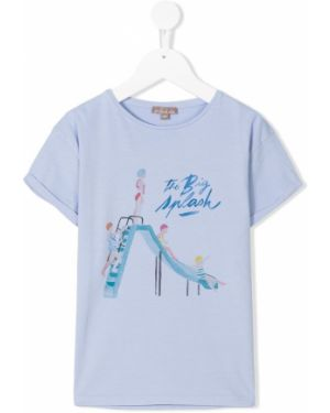 Синяя футболка со спущенными плечами Emile Et Ida