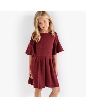 Платье с рукавами длинное с вырезом La Redoute Collections