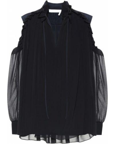 Блузка с рюшами батник Chloé